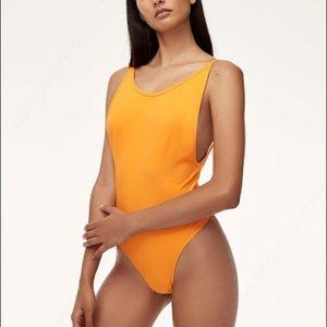 TNA Cozumel Bodysuit, Size S, Orange